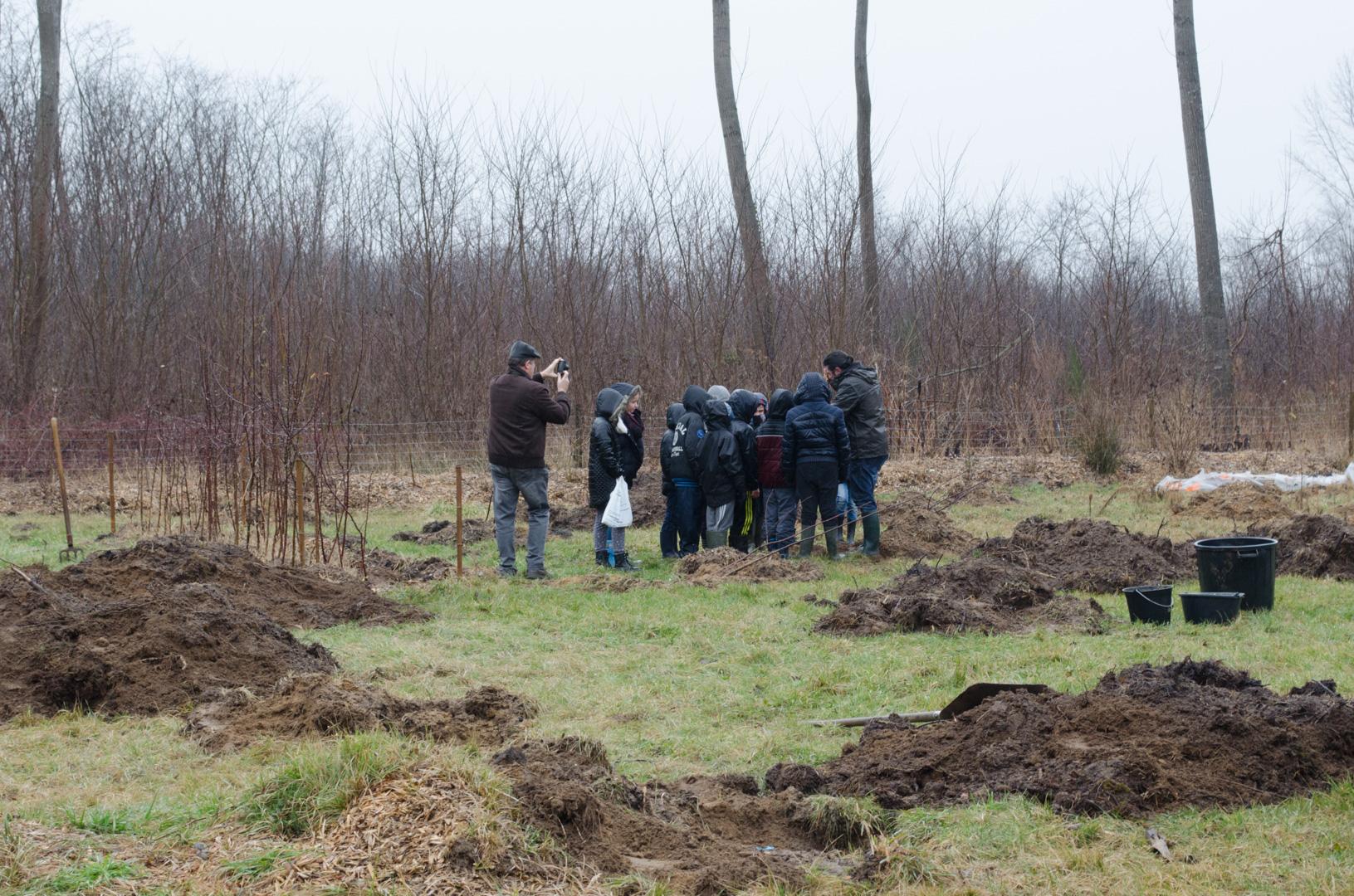 Plantation de pommiers au jardin ecole de boz for Plantation de jardin